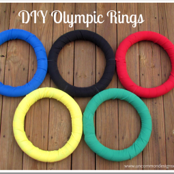 DIY Olympic Rings via www.uncommondesignsonline.com