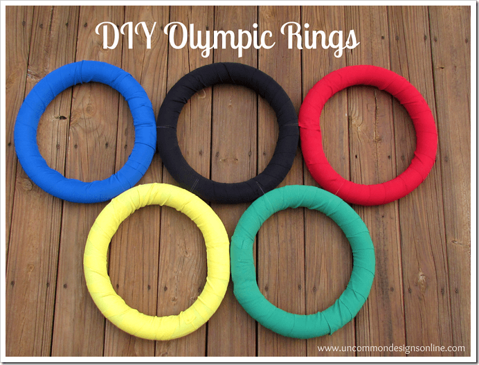 DIY Olympic Rings via www.uncommondesignsonline.com