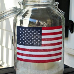 Patriotic Flag Mason Jar Lanterns