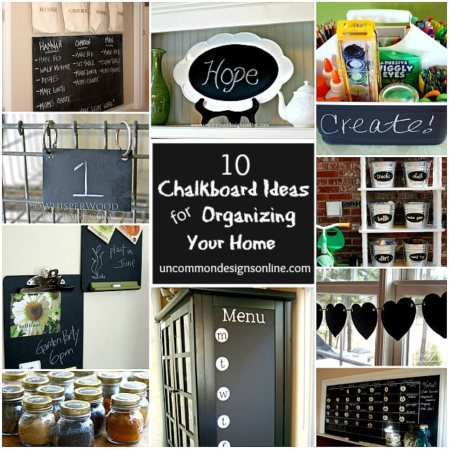 10 chalkboard paint ideas for organizing your home - Chalkboard Designs Ideas