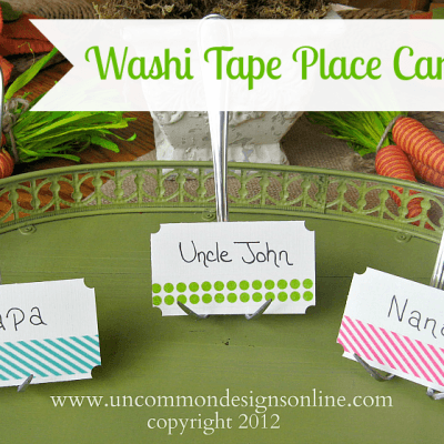 Washi Tape Place Card Tutorial…