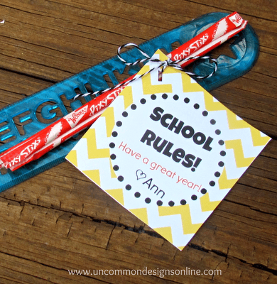 Back to School Treats { Free Printable }