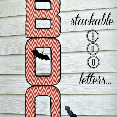 Stackable BOO Halloween Letters…