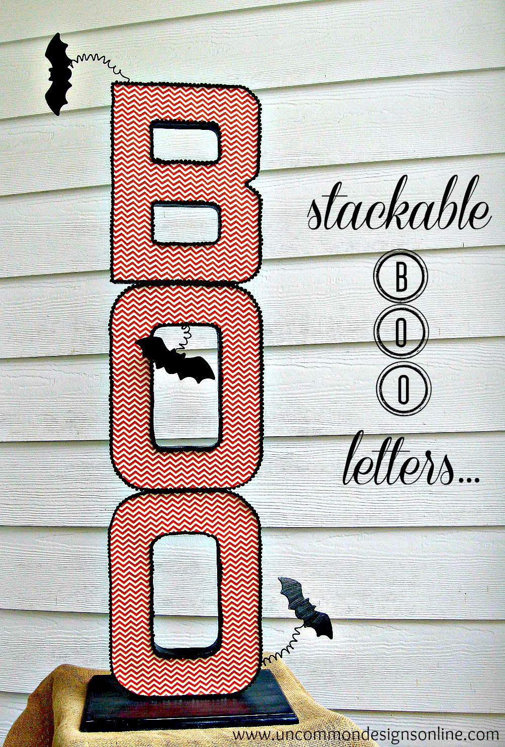 Stackable BOO Letters 1