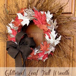 art glitter wreath