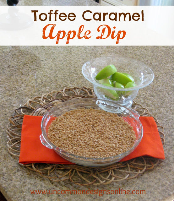 Simple and yummy Toffee Caramel Apple Dip recipe via Uncommon Designs