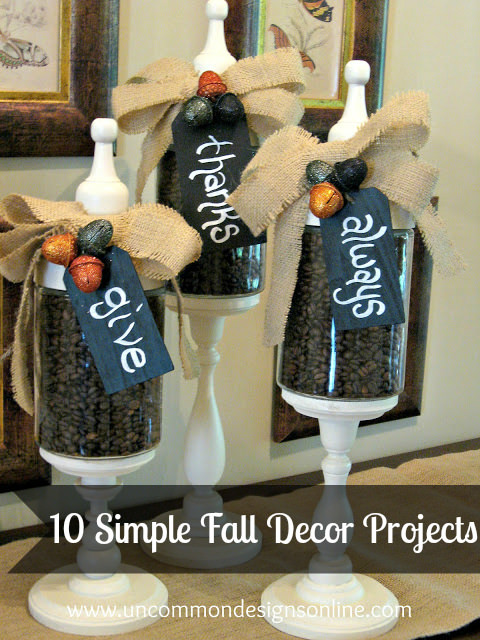 10 SImple Fall  Decor Projects