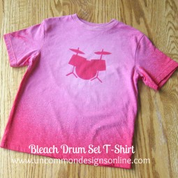 Bleached Drum Set t-shirt tutorial Uncommon 2012