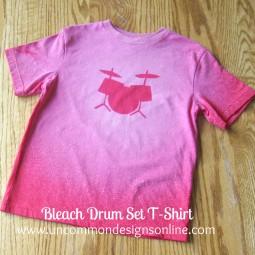 Bleached Drum Set t-shirt tutorial Uncommon 2012