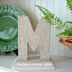 Burlap Vovered Monogram uncommon 2012 final