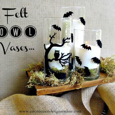 Felt Owl Vases Tutorial
