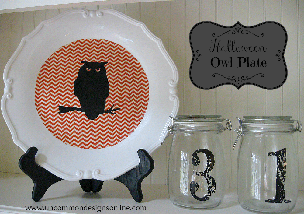 Halloween Owl Plate Tutorial Uncommon Designs