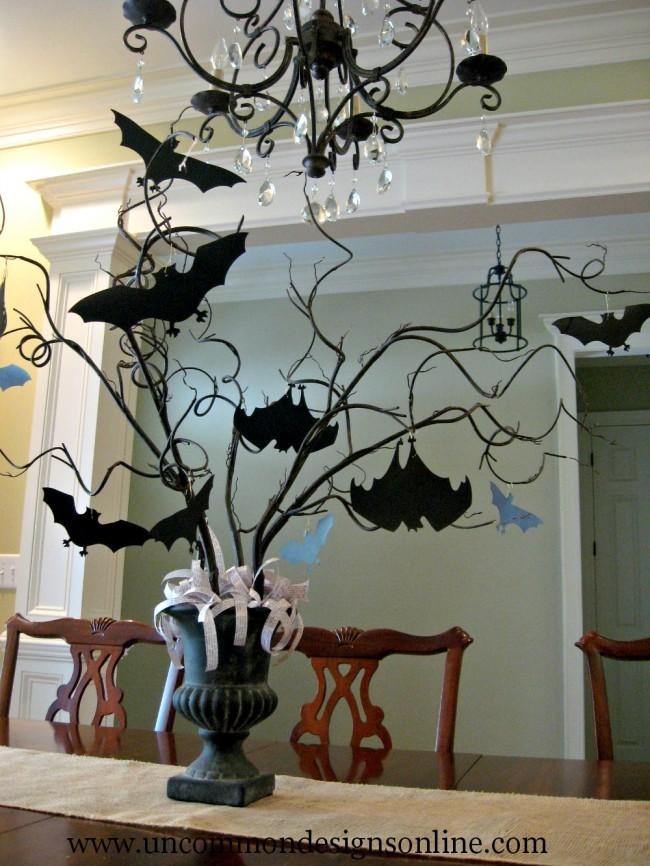 Paper Bat Halloween Tree