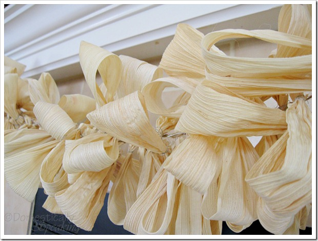 corn husk garland