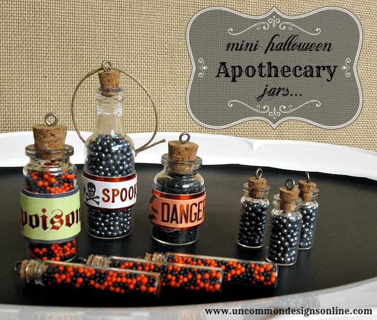 mini halloween apothecary jars