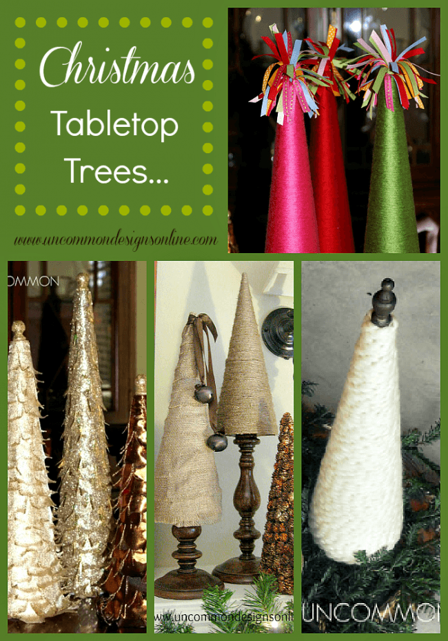 Christmas tabletop trees