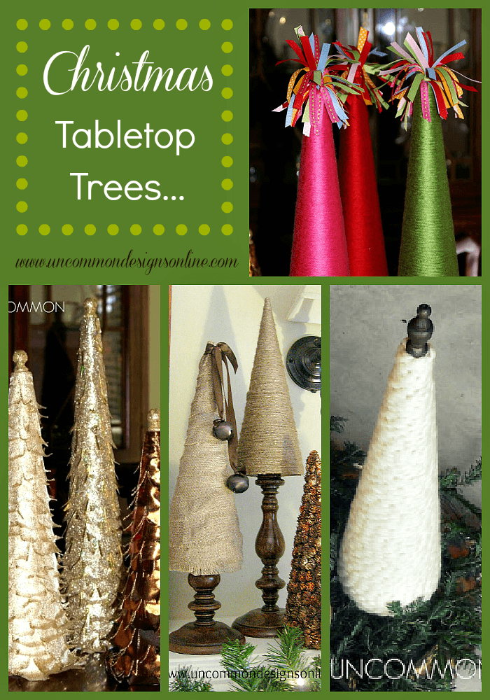 Christmas tabletop trees