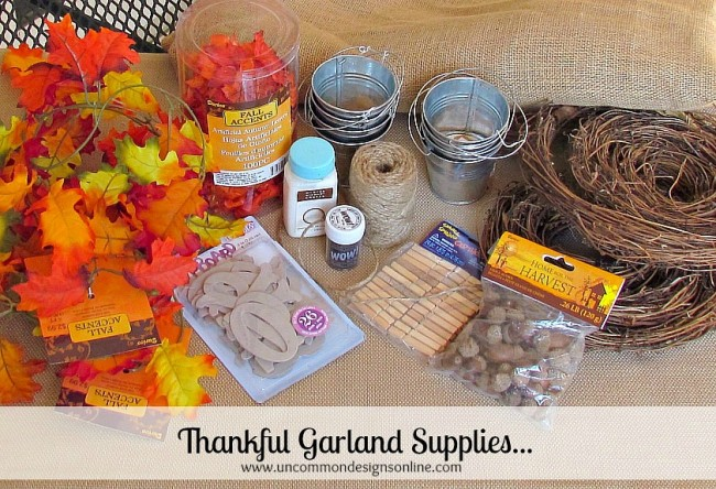 Thankful garland Supplies