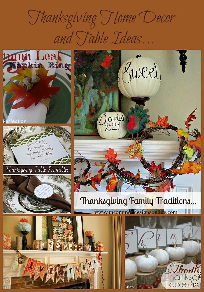 Thanksgiving home decor and table ideas for Thanksgiving home decorations pinterest