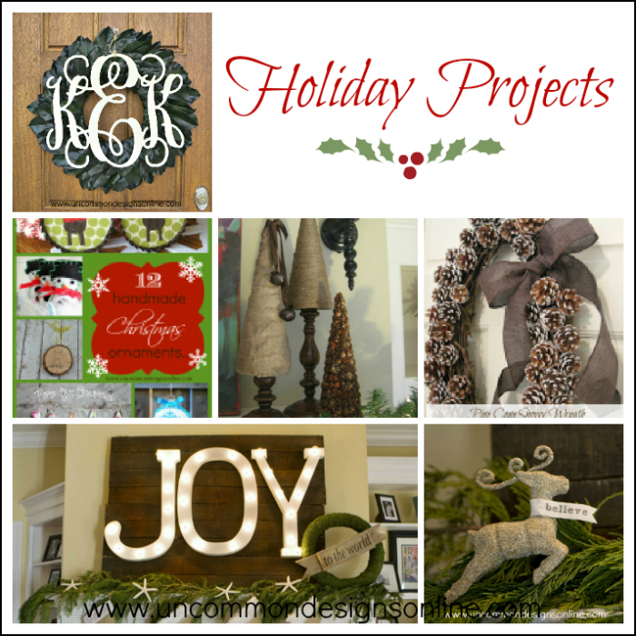 holiday projects collage