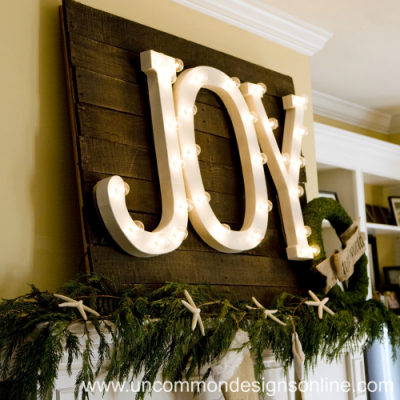 Joy to the World Holiday Mantel