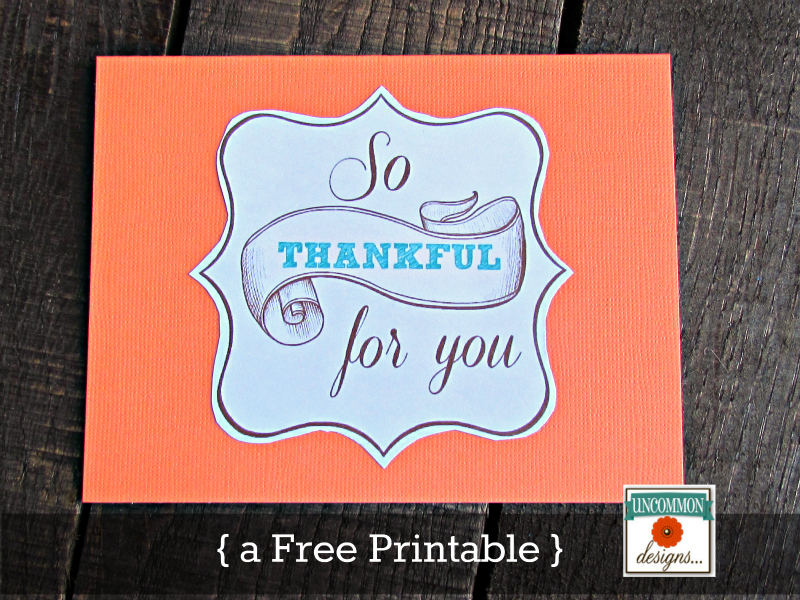Thanksgiving printable