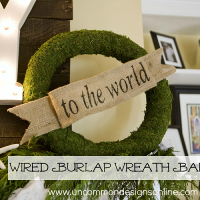 Wired Burlap Wreath Banner Tutorial