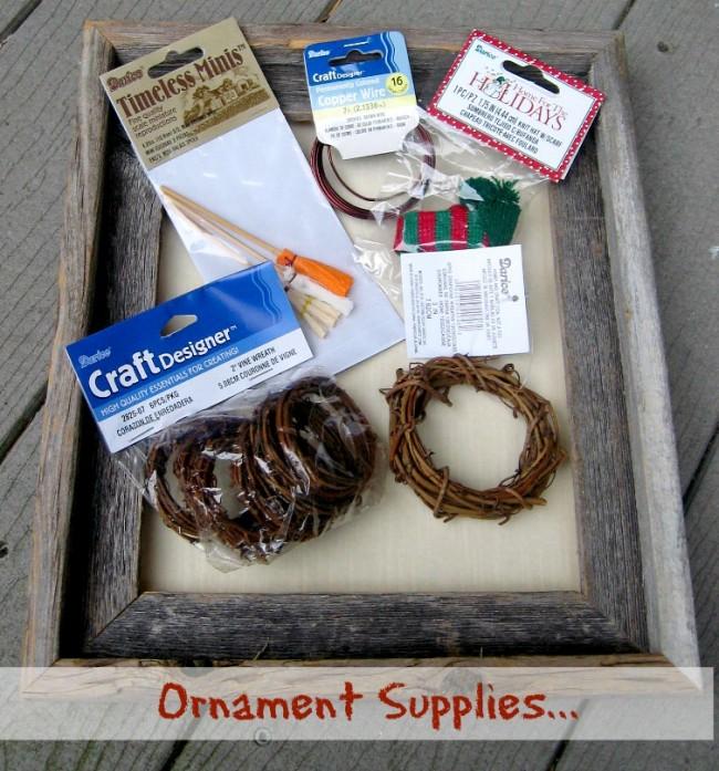 Snowman Ornament Supplies