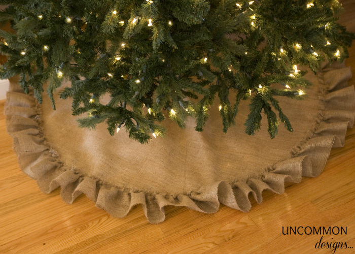 no-sew burlap tree skirt