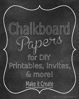 printable chalkboard papers