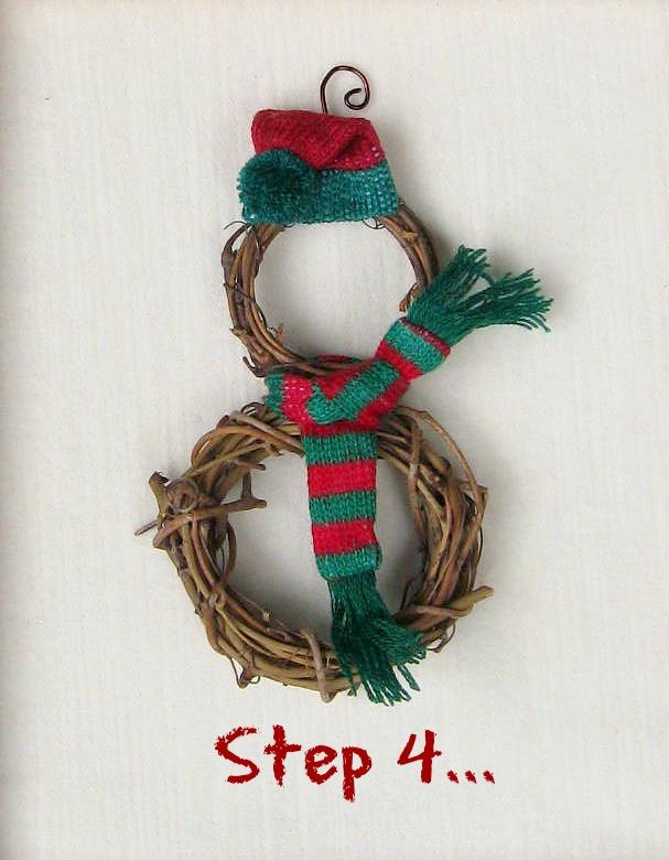 snowman ornament step 4
