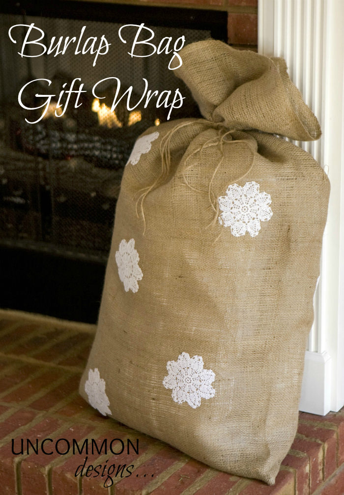 Burlap decorating ideas Burlap bag decorating ideas