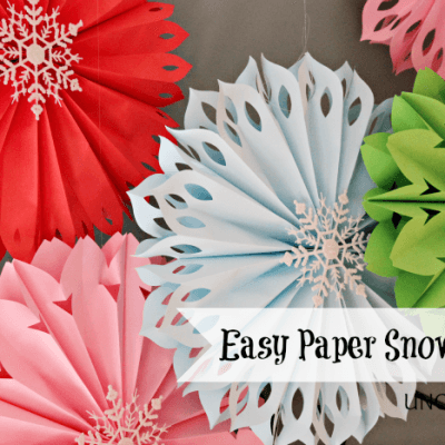 How To Make Paper Snowflakes… The Easiest Ever!!