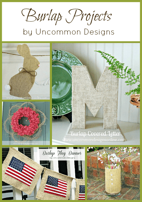 Burlap crafts uncommon designs