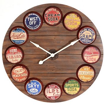 Kirkland's Bottle Cap Clock