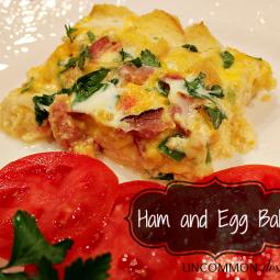 Ham and Egg Bake… not just for breakfast…