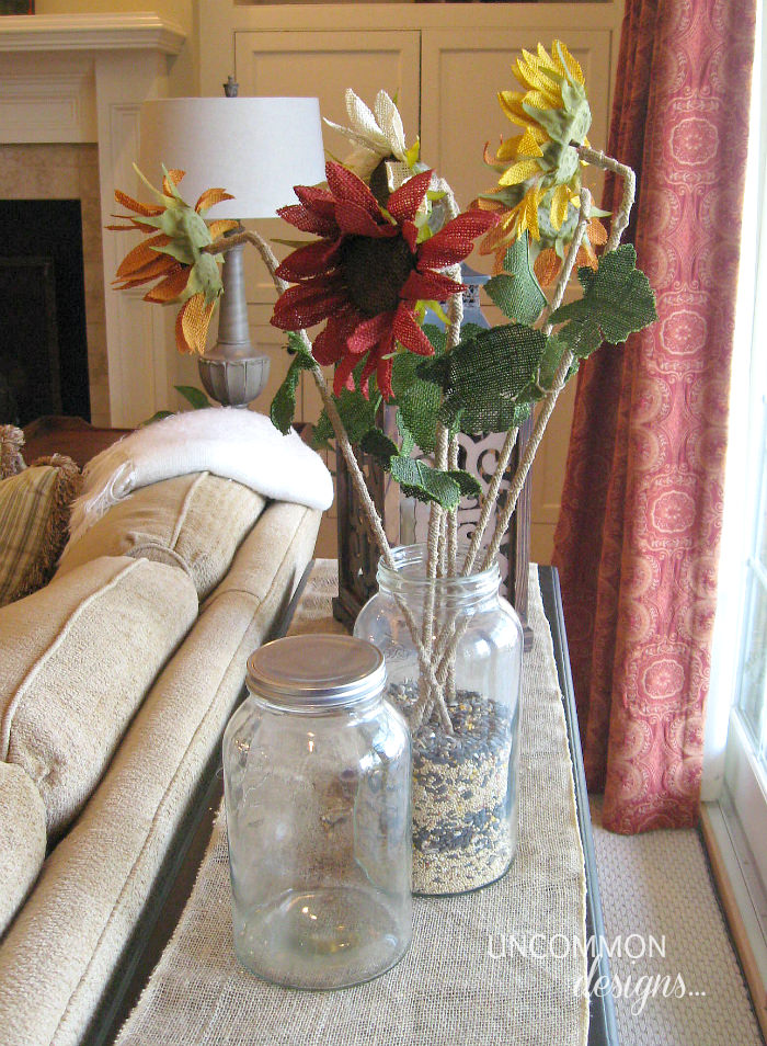 Mason Jar vase room refreshen