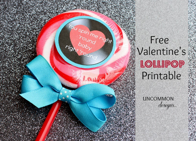 Valentine's Day Printable - free valentine printable from Uncommon Designs