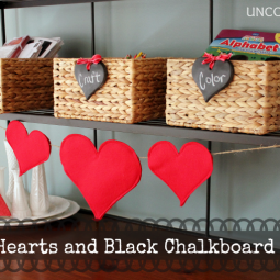 Red Hearts and Black Chalkboard Tags