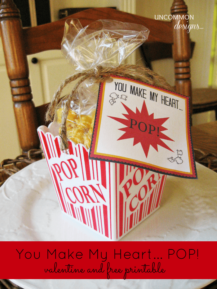 You My Heart POP printable valentine