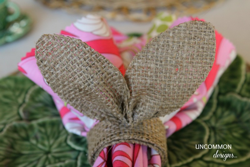 Burlap-Bunny-Ear-Napkin -Ring