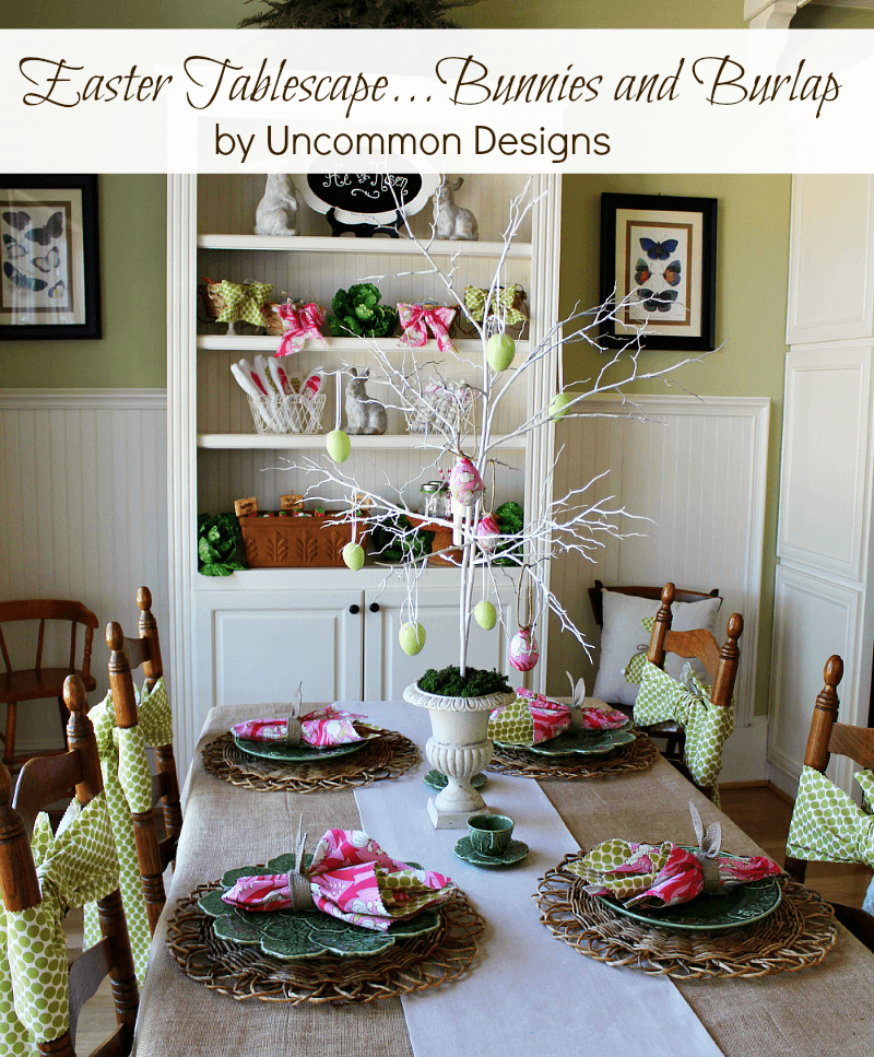 Easter-Tablescape-Burlap-Bunnies