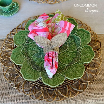 Easter Tablescape …. Bunnies and Burlap