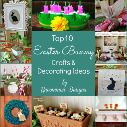 Ten Easter Bunny Crafts and Decorating Ideas