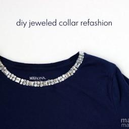 DIY Jeweled Collar Refashion