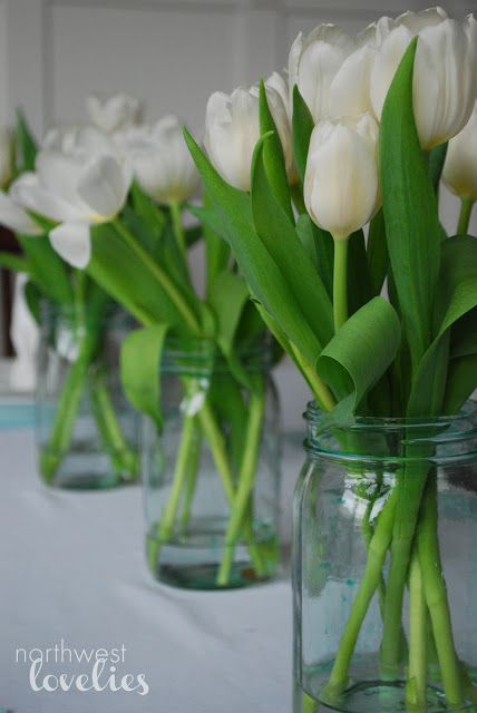 easter table vases