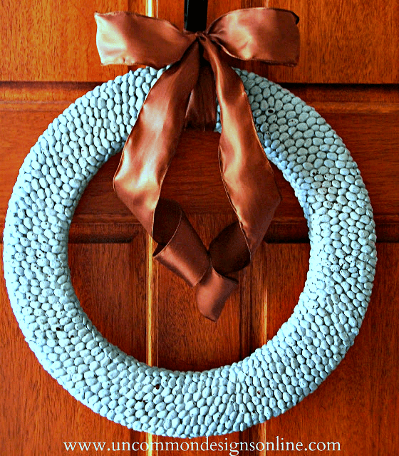 How to make a DIY Lima Bean Spring Wreath. #easter #spring #wreath