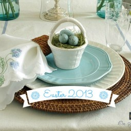 sutton place easter tablescape