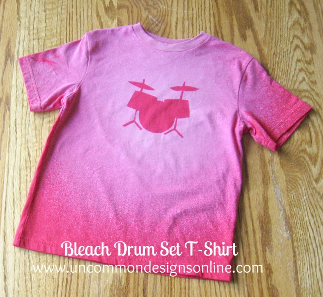 Bleached Drum Set t-shirt tutorial