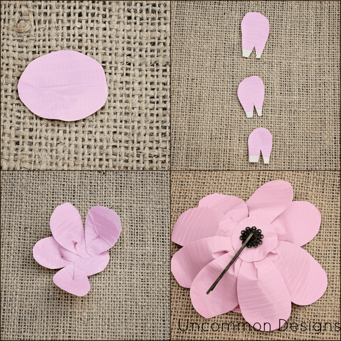 duck tape flower picture tutorial